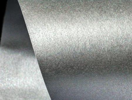 Papier ozdobny srebrny perłowy  - niepełne A4 - GoatBox