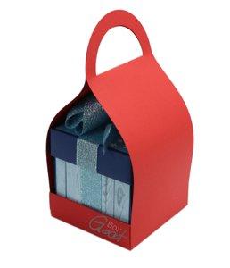 Trzymak nosidełko na exploding box - czerwony matowy